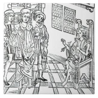 El cirujano visita a un hombre con las heridas de  azulejo cerámica