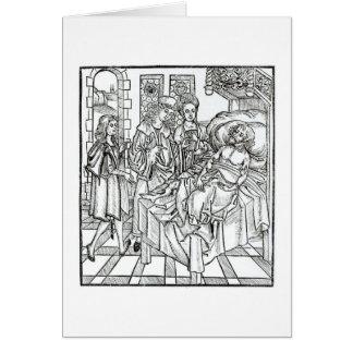 El cirujano y los ayudantes visitan a un hombre gr tarjeta