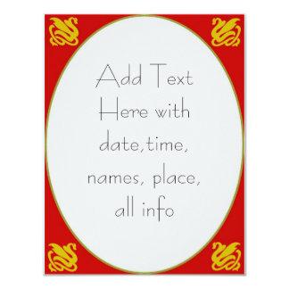 """El cisne invita a 2, añade el texto aquí invitación 4.25"""" x 5.5"""""""