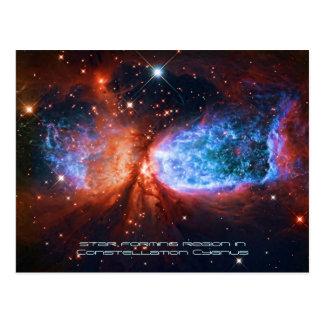 El cisne, nacimiento de la estrella en Cygnus de Postal