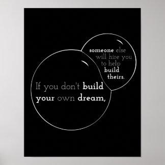 El citar de motivación del poster: Si usted no con