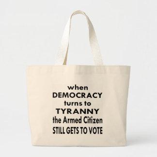 El ciudadano armado todavía consigue votar bolsa tela grande