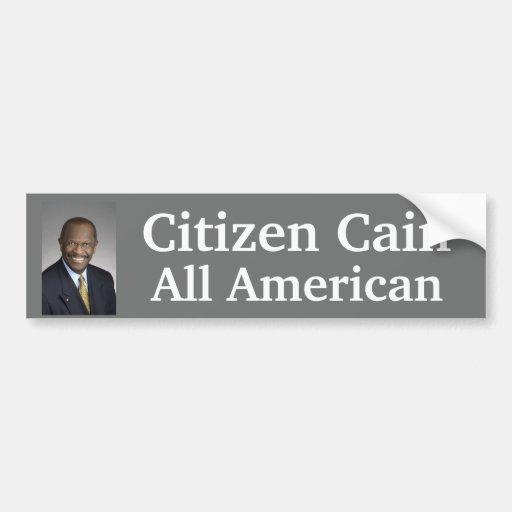 El ciudadano Caín es todo americano Pegatina De Parachoque