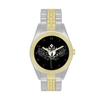El Claddagh (blanco) Relojes De Pulsera