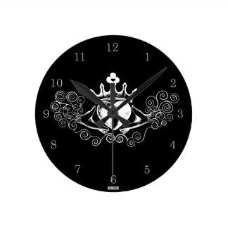 El Claddagh (blanco) Reloj De Pared