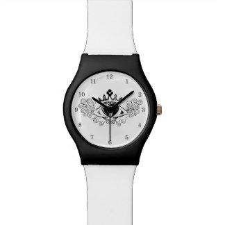 El Claddagh (negro) Reloj De Mano