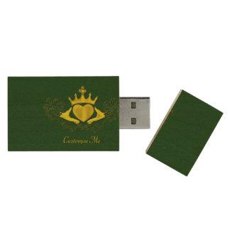 El Claddagh (oro) Memoria USB 2.0 De Madera