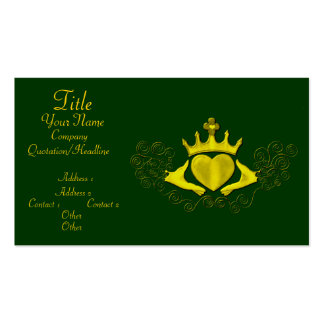 El Claddagh (oro) Tarjeta Personal