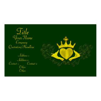 El Claddagh (oro) Tarjetas De Visita