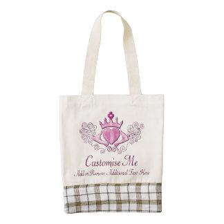 El Claddagh (rosa) Bolsa Tote Zazzle HEART