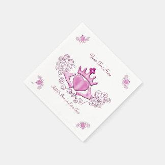El Claddagh (rosa) Servilletas De Papel