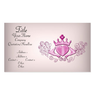 El Claddagh (rosa) Tarjetas De Visita