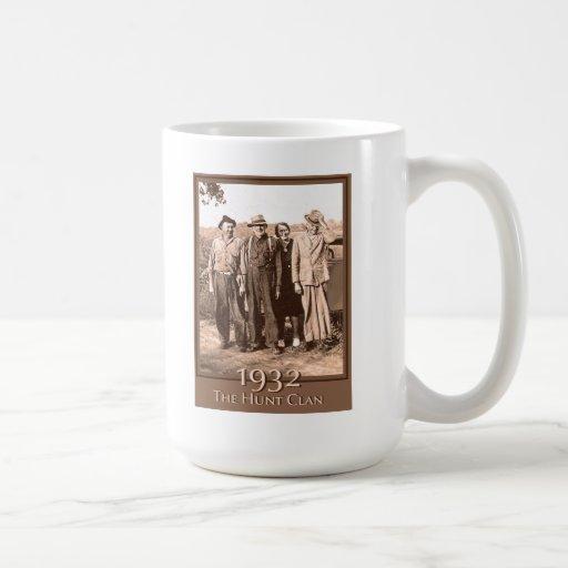 El clan 1932 de la caza taza de café