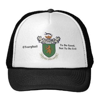 El clan de Farrell del escudo de armas de Irlanda Gorra