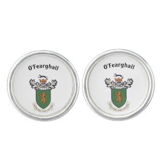 El clan de Farrell del escudo de armas de Irlanda Mancuernillas