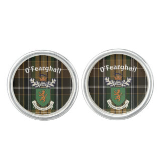El clan de Farrell del escudo de armas y del Mancuernillas