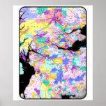 El clan escocés del mapa de Escocia nombra imagen  Impresiones