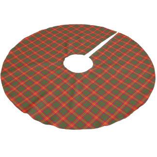 El clan quema el tartán falda para arbol de navidad de poliéster