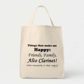 El Clarinet del alto me hace feliz Bolsa Tela Para La Compra