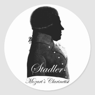 El Clarinetist de Mozart Pegatina