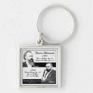 El Clarinetist Mühlfeld inspiró a Brahms Llavero Cuadrado Plateado