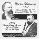 El Clarinetist Mühlfeld inspiró a Brahms Calcomania Cuadrada Personalizada