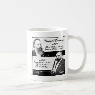 El Clarinetist Mühlfeld inspiró a Brahms Tazas