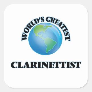 El clarinetista más grande del mundo pegatina cuadrada
