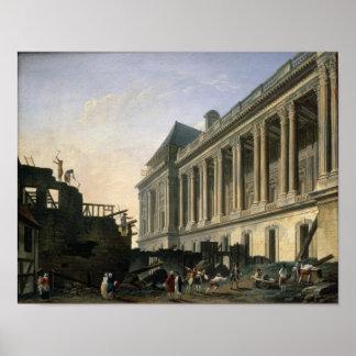 El claro de la columnata del Louvre, 1764 Posters