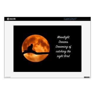 El claro de luna soña los regalos de los pájaros calcomanía para portátil