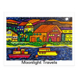 El claro de luna viaja postal