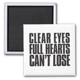 El claro observa, los corazones completos, no imán cuadrado