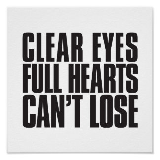 El claro observa, los corazones completos, no póster