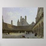 El claustro del Saint-Michel de Mont Poster