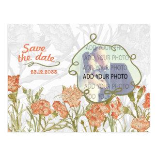 El clavel floral añade su reserva de la foto la postal
