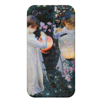 El clavel, lirio, lirio, subió - a John Singer iPhone 4/4S Carcasa