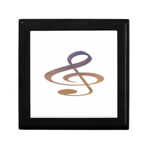 el clef agudo se nubla el naranja púrpura cajas de recuerdo