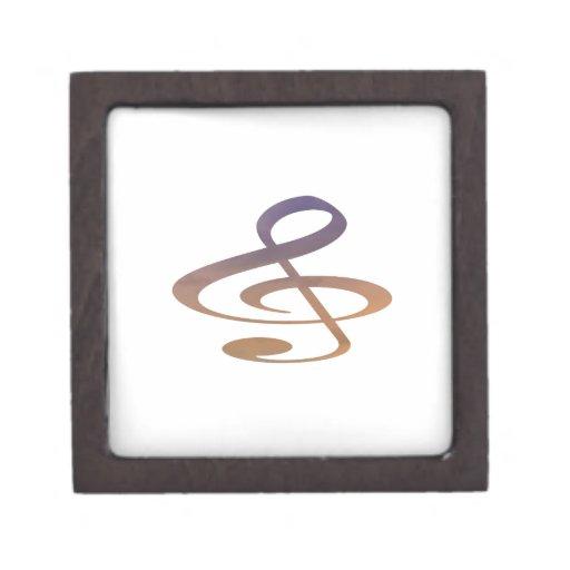 el clef agudo se nubla el naranja púrpura cajas de regalo de calidad