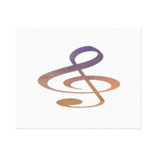 el clef agudo se nubla el naranja púrpura lona envuelta para galerías