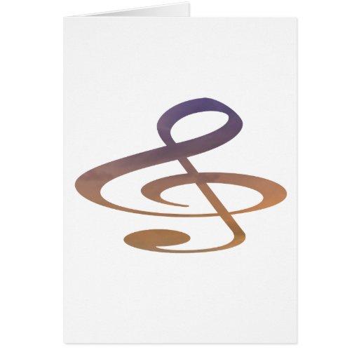 el clef agudo se nubla el naranja púrpura felicitacion