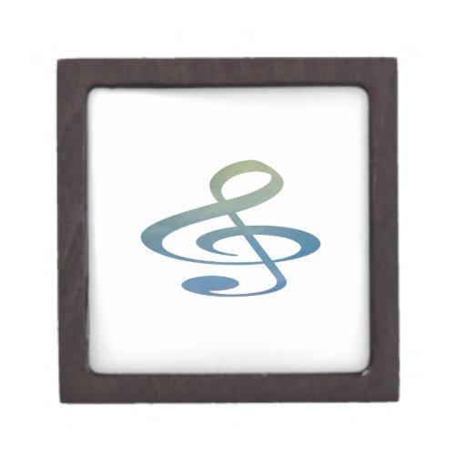 el clef agudo se nubla verde azul caja de regalo de calidad