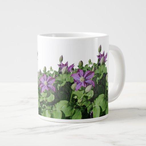 El Clematis florece la taza enorme Tazas Extra Grande