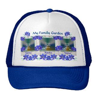 El Clematis púrpura florece el gorra de la foto de