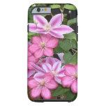 El Clematis rosado del ANUNCIO florece fotografía Funda Para iPhone 6 Tough