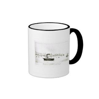 """El """"Clermont"""", el primer paquete del vapor Tazas De Café"""