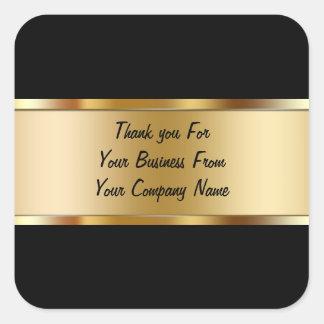 El cliente con clase le agradece los pegatinas pegatina cuadrada
