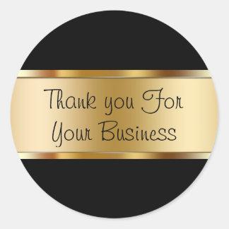 El cliente con clase le agradece los pegatinas pegatina redonda