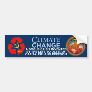 El clima Cambio-Verde es la nueva pegatina para el Etiqueta De Parachoque