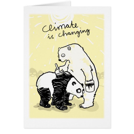 El clima del calentamiento del planeta está cambia tarjetas