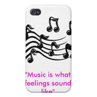 """el clipart de la música, """"música es como lo que su iPhone 4 protector"""